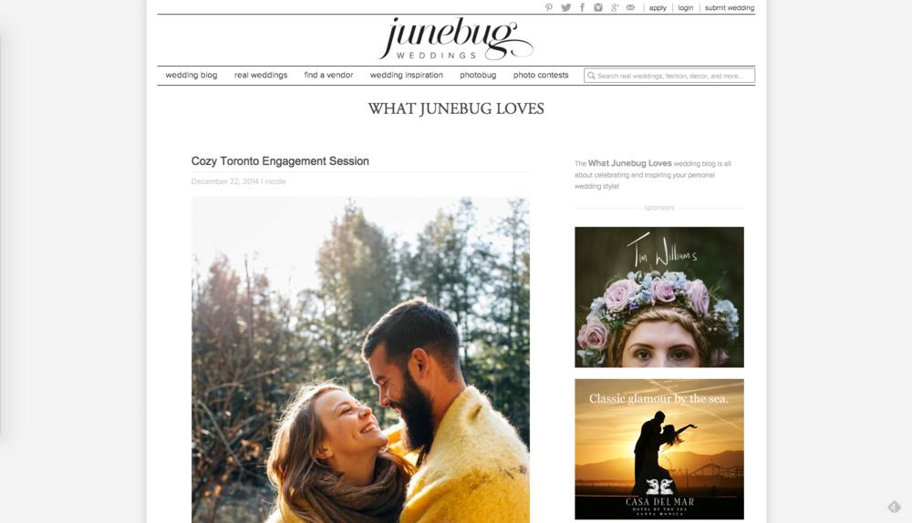 Junebug Weddings - Cozy Muskoka Engagement