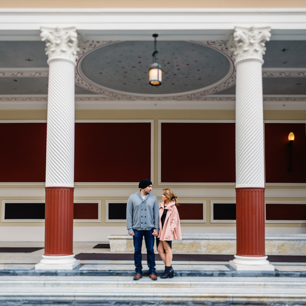 Getty Villa Engagement Photos - isos photography