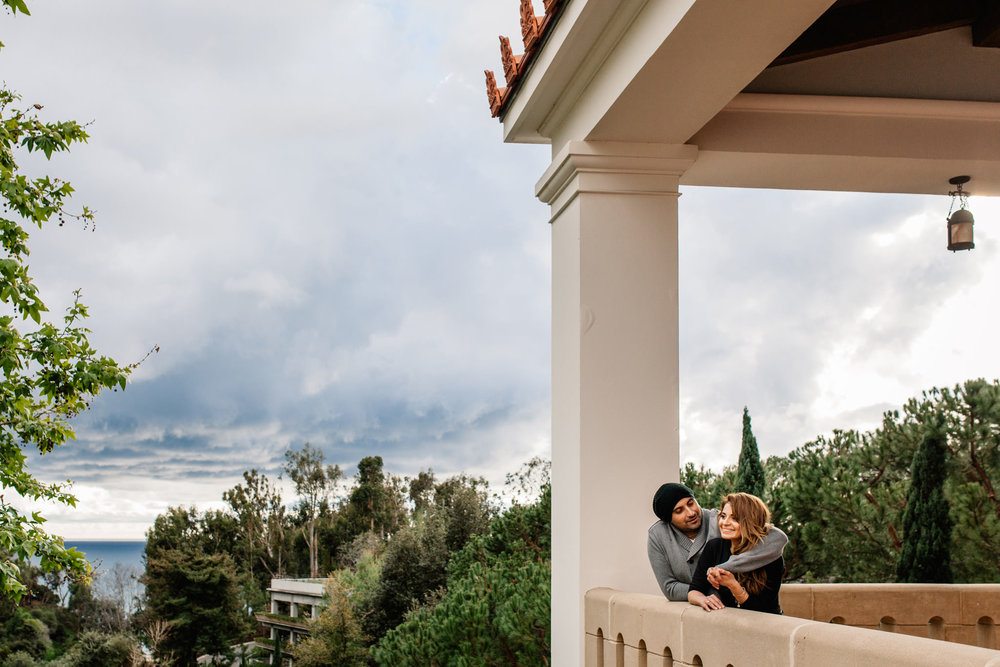 Getty Villa Engagement Wedding - isos photography