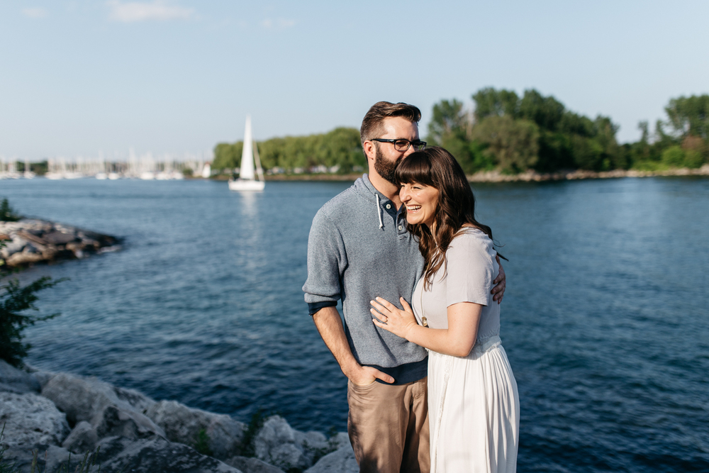 Toronto Harbour Engagement Photography