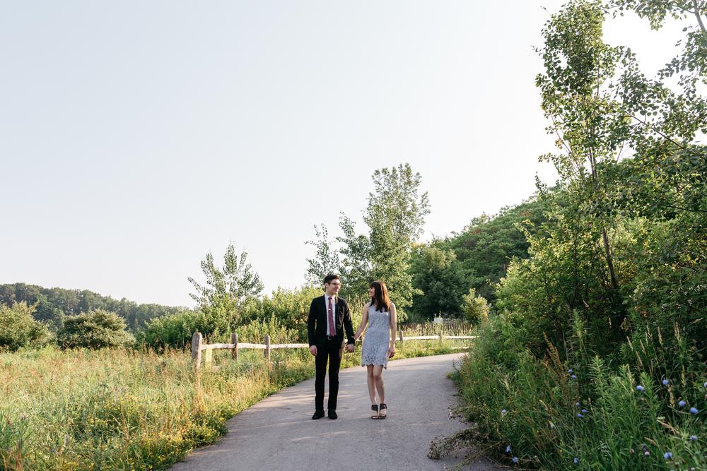 Verlobung Shooting Urban Toronto Nature