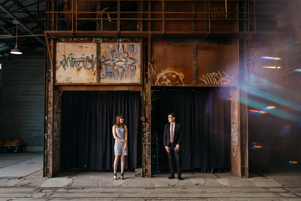 Brick Works Engagement Urban Ruins Photography