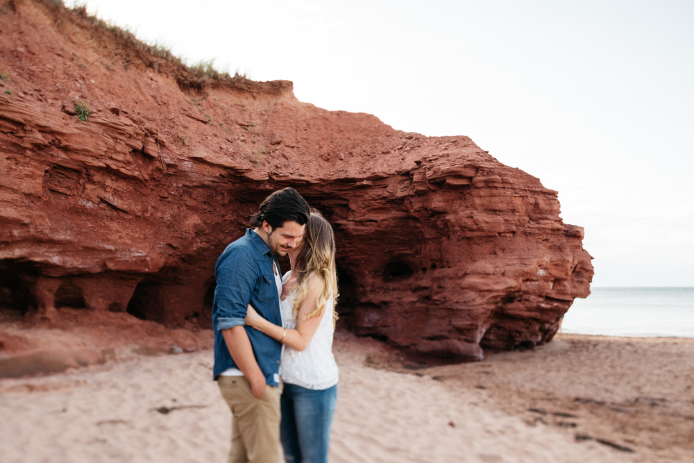 PEI Engagement Photographer Beach Couple