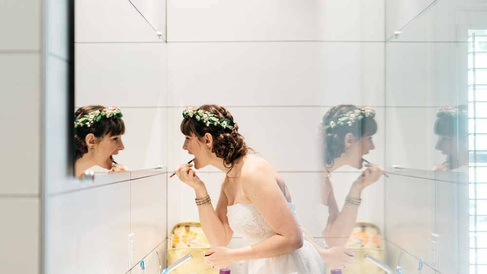 Creative Bride Getting Ready Photo