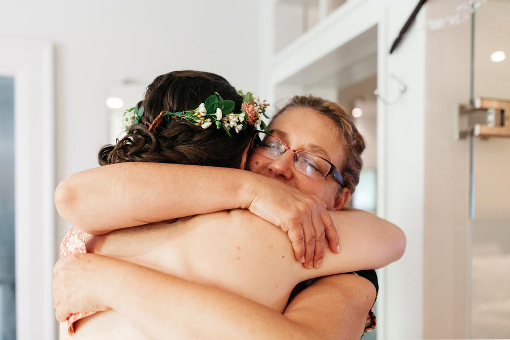 Mother Hug Wedding Day