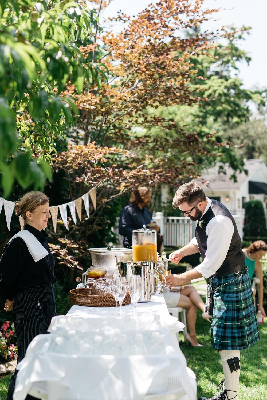 romantic brunch wedding
