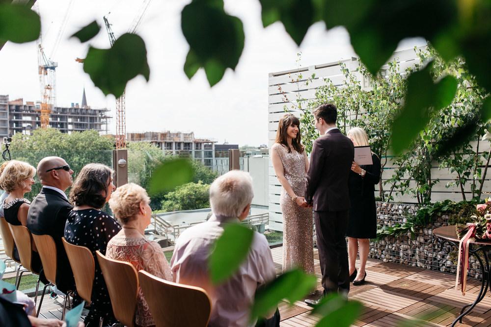 the spoke club wedding ceremony