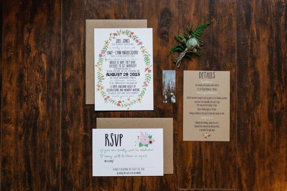 wedding invitations diy forest wedding