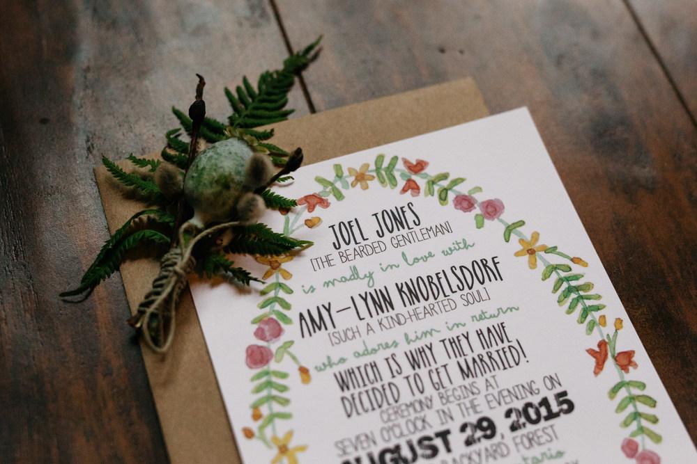 creative wedding invitations muskoka canada