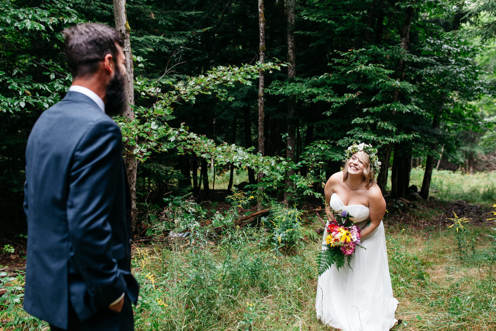 magical forest wedding first look
