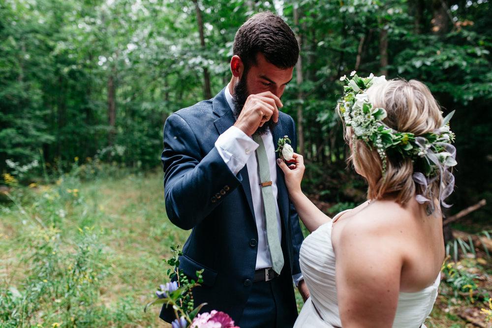 intimate forest wedding muskoka