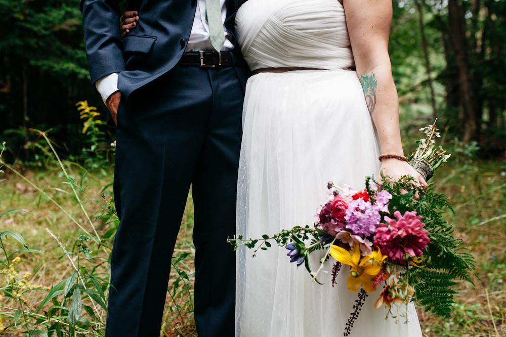 bridal details muskoka forest wedding