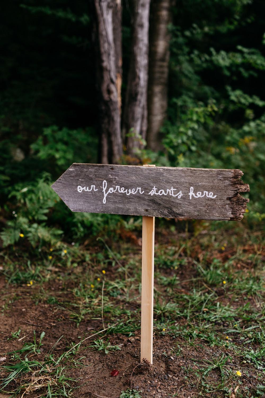 diy muskoka wedding detail