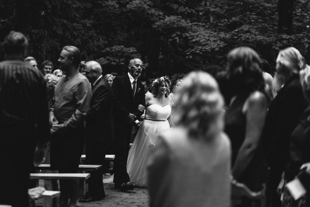 aisle walk bride