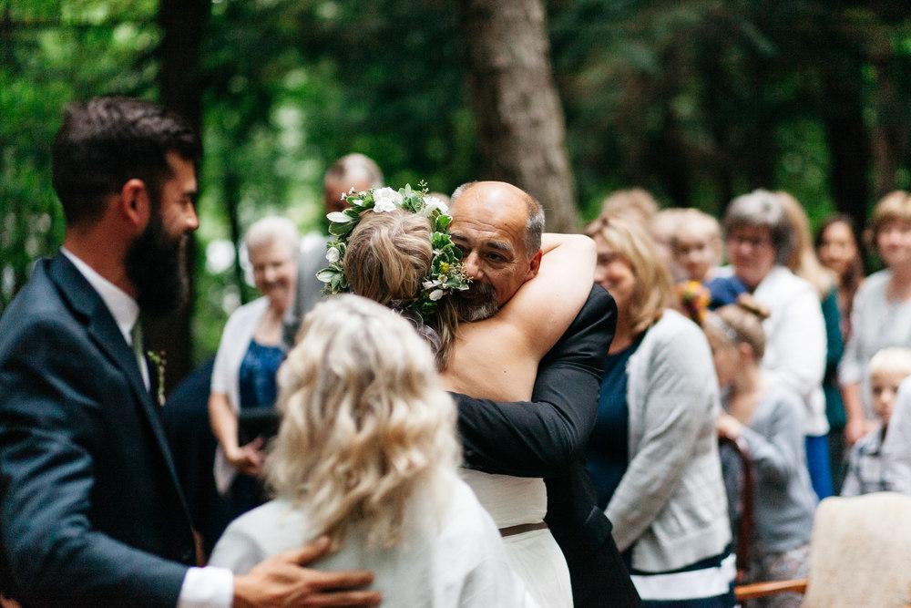 canadian forest wedding