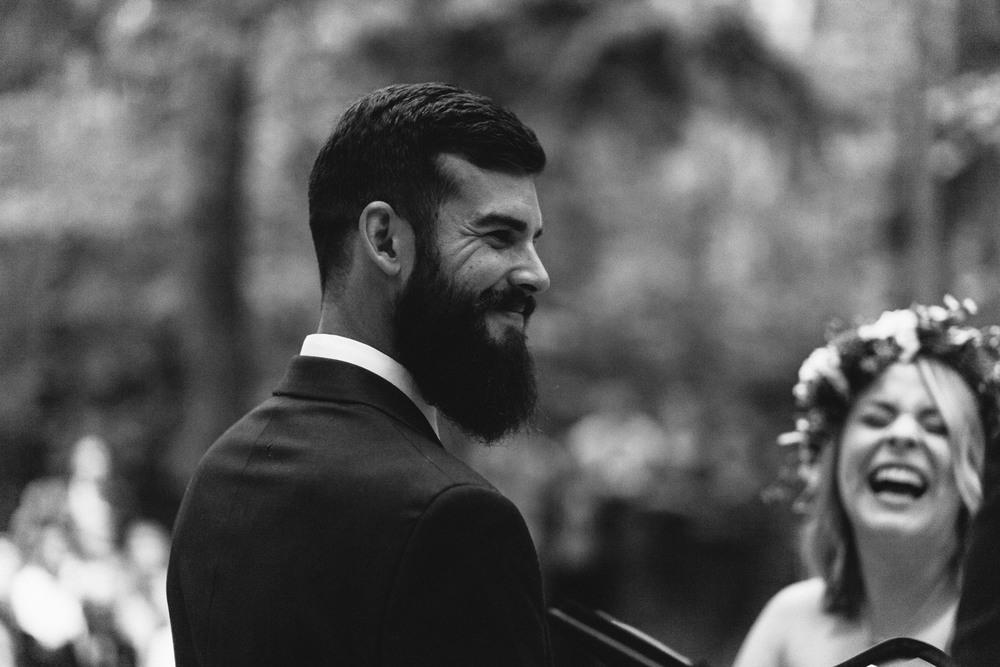 happy groom wedding day