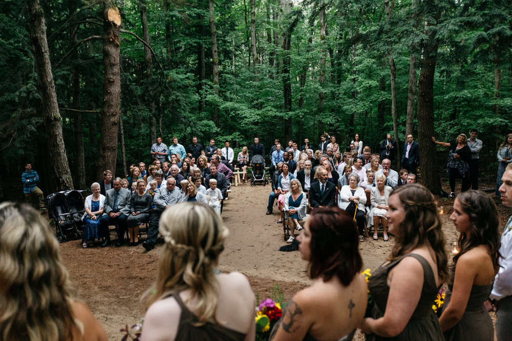 authentic forest wedding