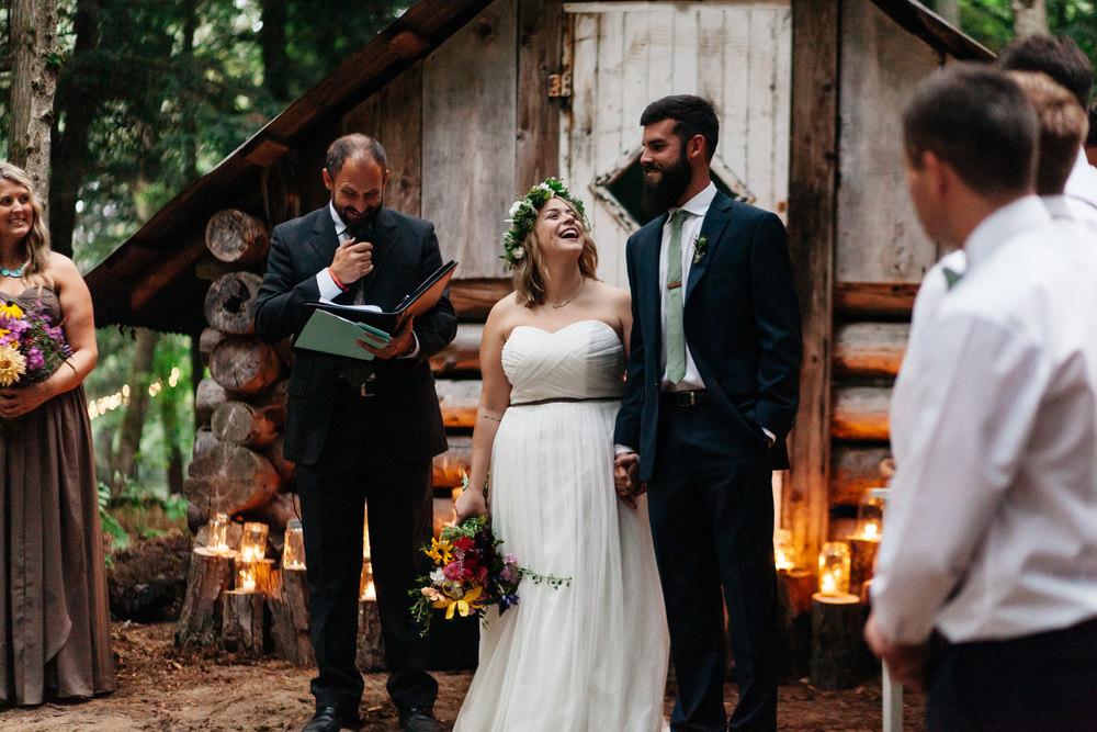 beatiful forest wedding muskoka