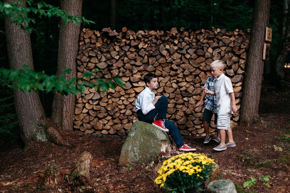 muskoka backyard forest wedding