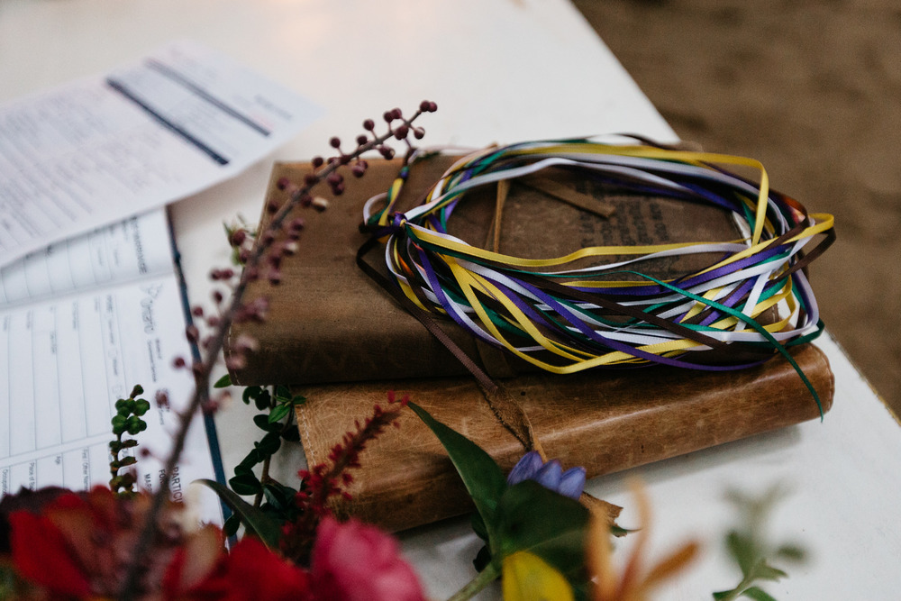 handbinding ceremony detail