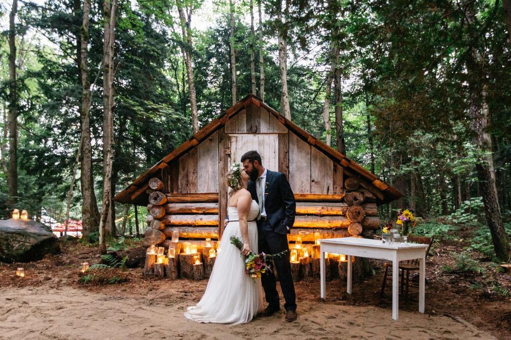 backyard forest wedding
