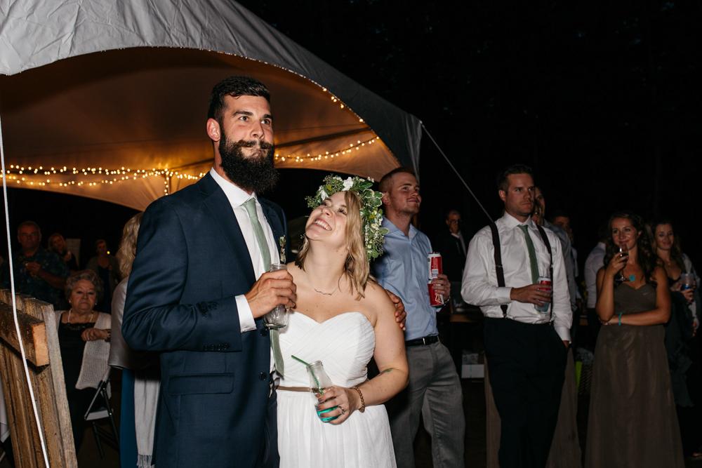 wedding toast forest wedding