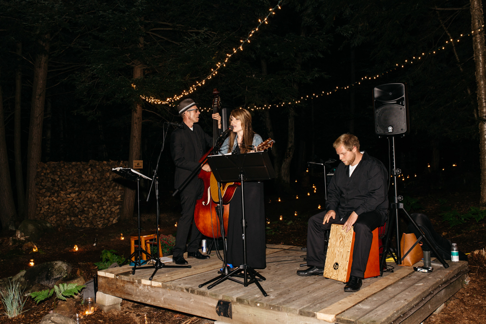 live band forest wedding