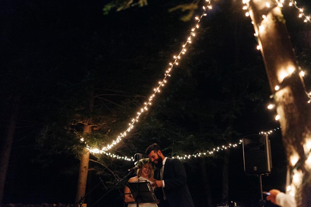 beautiful forest wedding canada