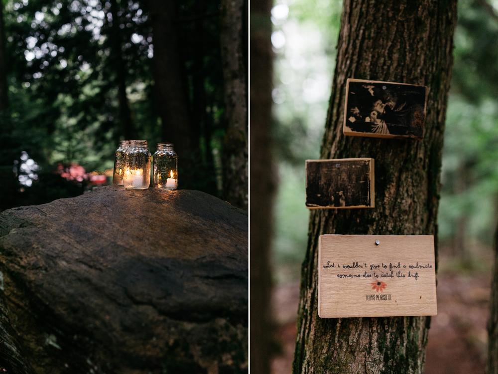 muskoka forest wedding details