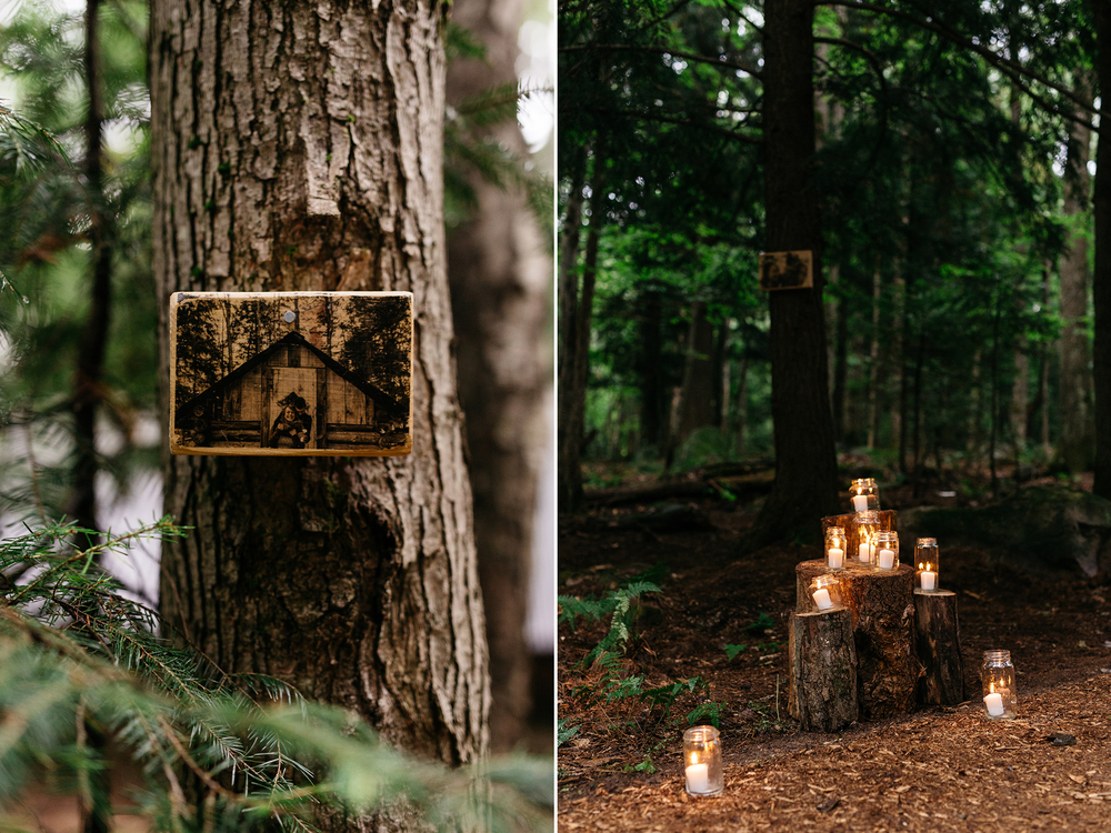 romantic canadian forest wedding