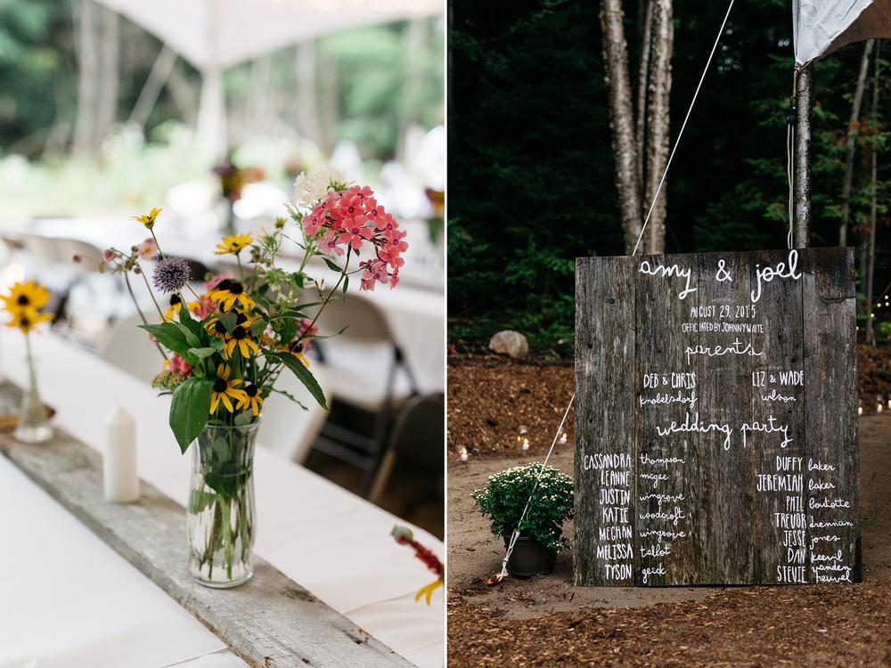 diy muskoka wedding details