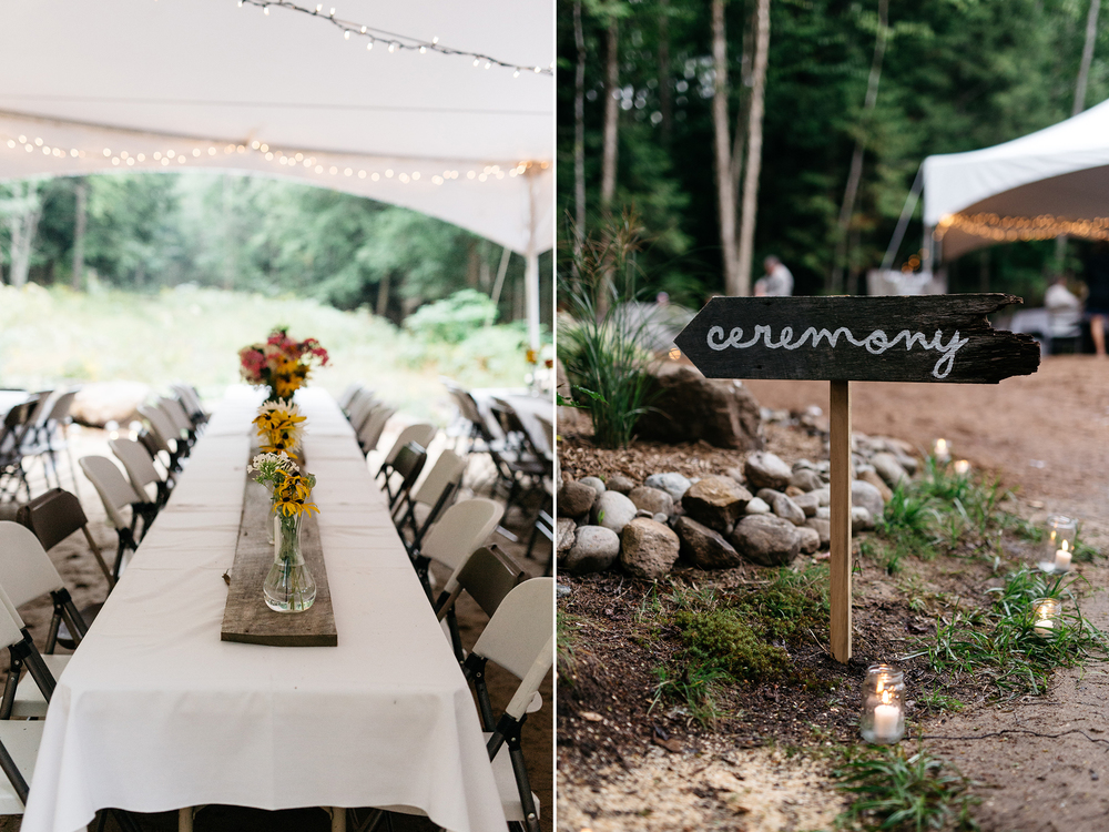 intimate forest wedding detail