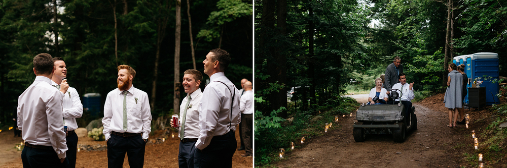 intimate muskoka wedding