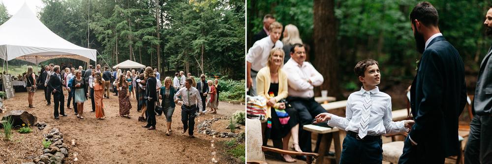 diy intimate forest wedding