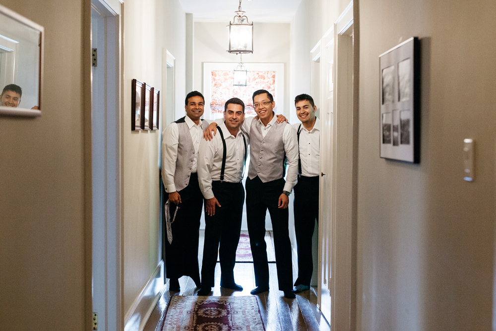 Fun Groomsmen portraits wedding