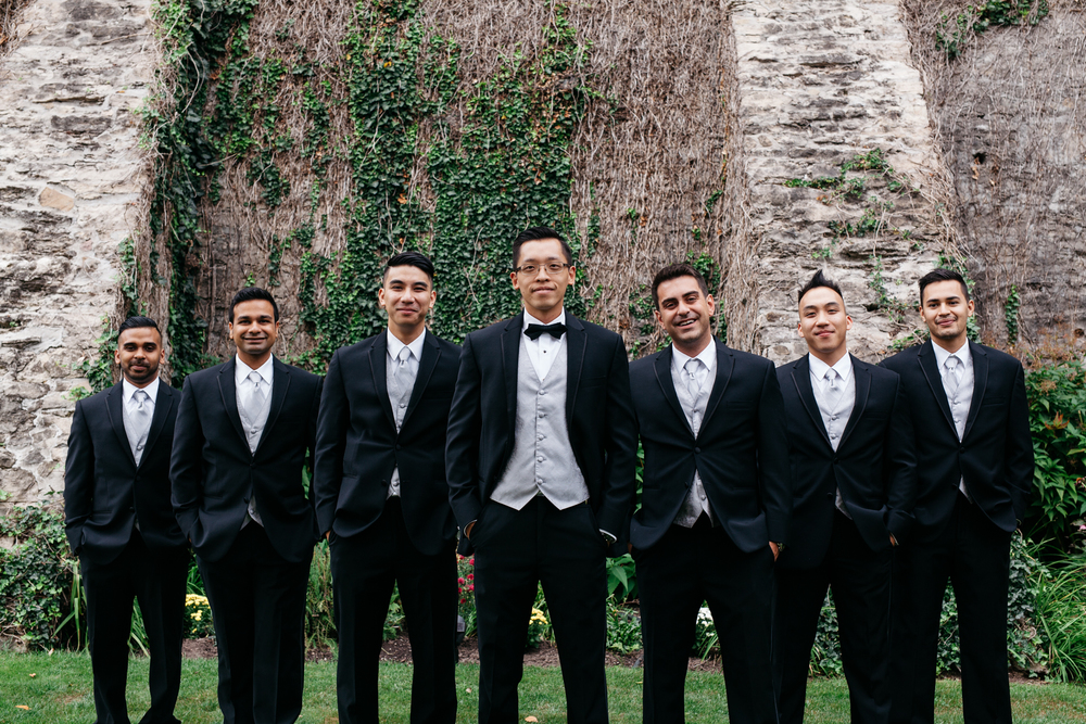 Groomsmen Portrait Cottage Wedding