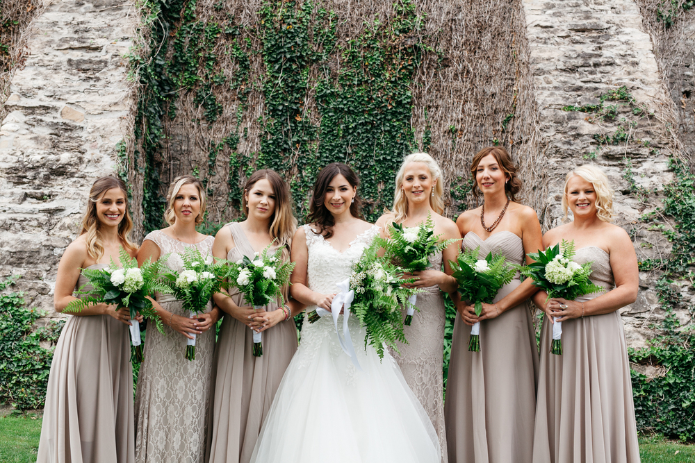 Bridal Party Fun Group Portrait Wedding