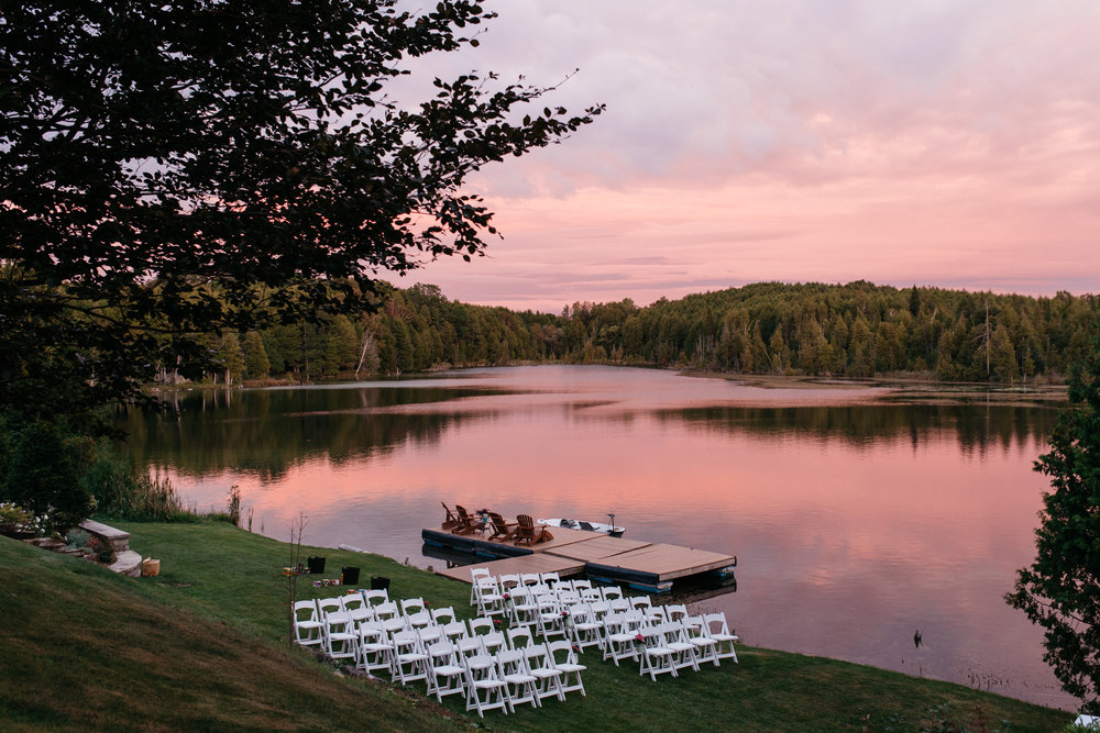 Private Lake Wedding Canada