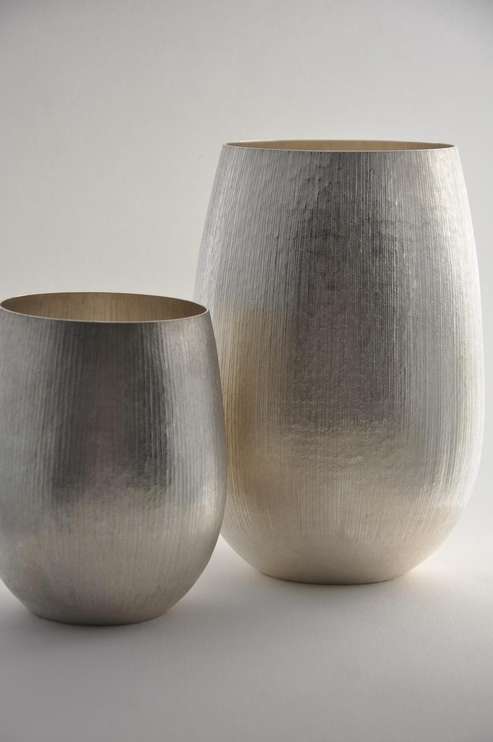 Two Snowcord Vases