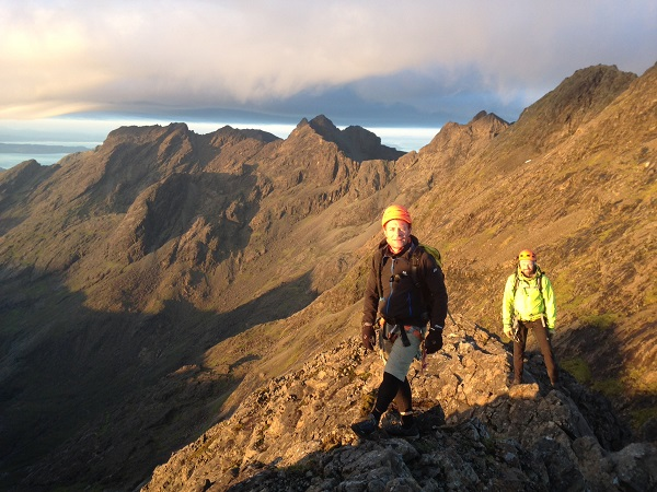 Scrambling on the Dubhs Ridge on Skye