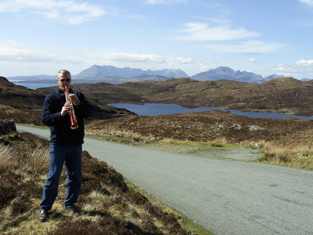 Ian practising on the Isle of Skye. -
