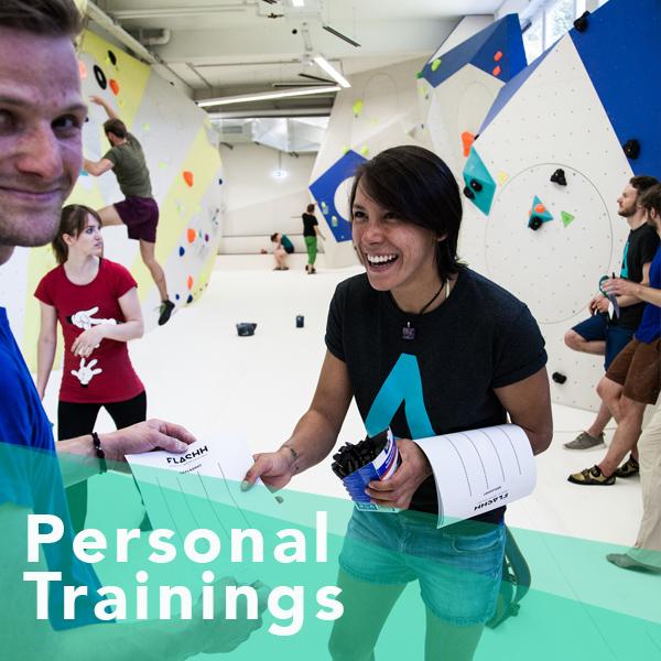 Du möchtest, dass sich einer unserer Trainer ganz persönlich Zeit für dich nimmt? Ob Fragen zur Klettertechnik, Kraft- oder Ausgleichstraining, Videoanalyse oder Trainingsplanung: unser Trainer geht auf alle deine individuellen Wünsche und Ziele ein. Das auf dich ganz persönlich abgestimmte Training kannst du zu Zeiten buchen, die dir am besten passen. Wenn du möchtest, kannst du noch eine weitere Person mitbringen, die für den ganz normalen Eintritt dabei sein darf. Du kannst einen Einzeltermin buchen oder gleich 5 Termine. Den 6. gibt es dann für lau! Pro Stunde 59€ inkl. Eintritt und Material