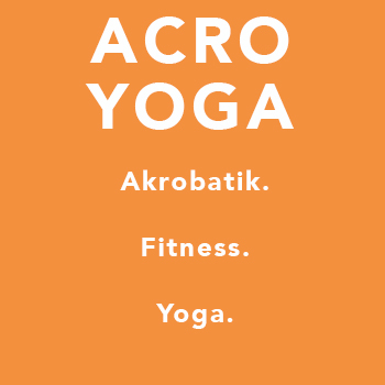 ACROYOGA | 90 min Ein bunter Mix aus Akrobatik, Yoga und Fitness. Bei diesem Workout hebt ihr Körper statt Gewichte und stärkt euch gegenseitig. Denn durch den hohen Balance-Anteil werden die tiefsten der tiefsten Tiefenmuskeln trainiert ohne es zu merken...bzw. erst am Tag danach. Ihr braucht weder Erfahrung noch Partner mitbringen. Das findet sich alles vor Ort.