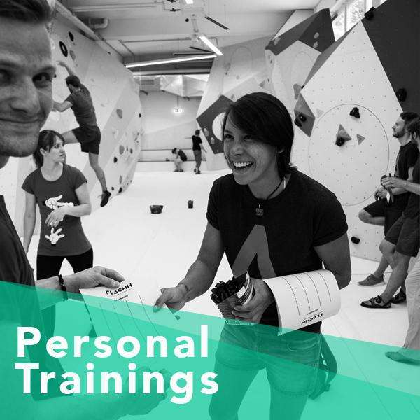 Ob Fragen zur Klettertechnik, Kraft- oder Ausgleichstraining, Videoanalyse oder Trainingsplanung: unser Trainer geht auf alle deine individuellen Wünsche und Ziele ein. Das auf dich ganz persönlich abgestimmte Training kannst du zu Zeiten buchen, die dir am besten passen. Wenn du magst, bring noch eine weitere Person mit, die für den ganz normalen Eintritt dabei ist. Du kannst einen Einzeltermin buchen oder gleich 5 Termine. Den 6. gibt es dann für lau!  Pro Stunde 59€ inkl. Eintritt und Material