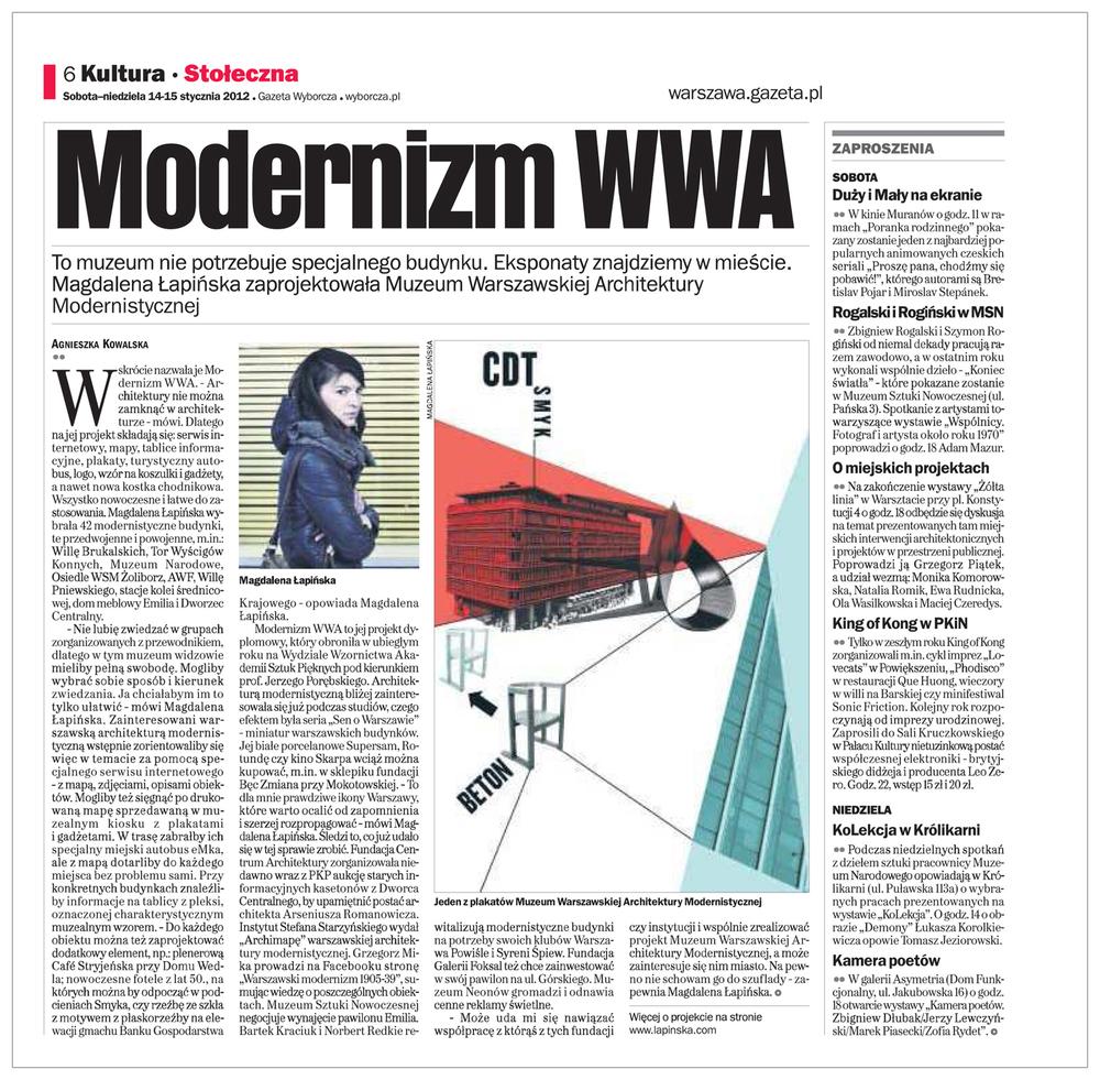 Gazeta Wyborcza, 2012