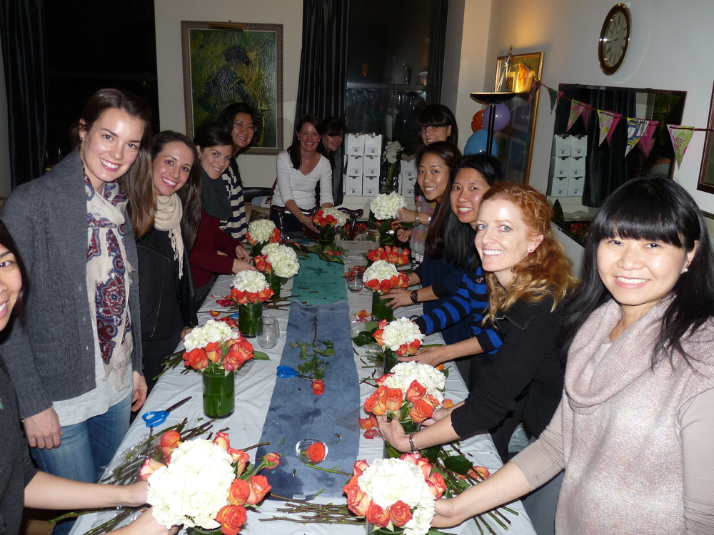 Flower Arranging Class, Fall 2013