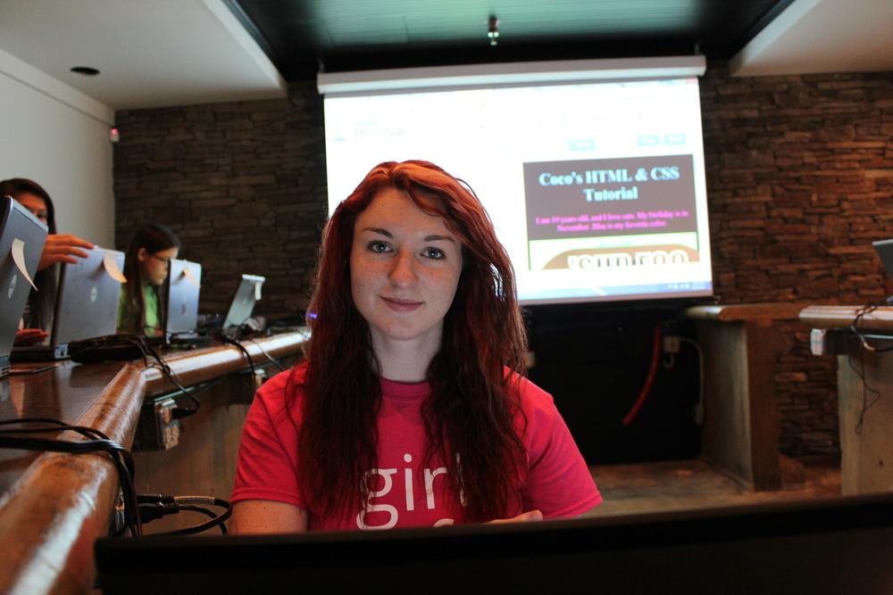 Coco Bennett teaching HTML & CSS in Jackson