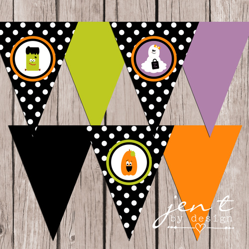 boo bash halloween party banner instant download