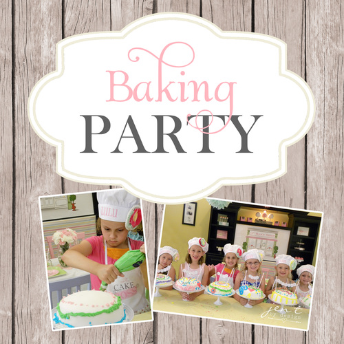 baking party complete printable collection includes personalized