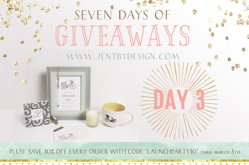 JenTbyDesign.com Launch Party Giveaway